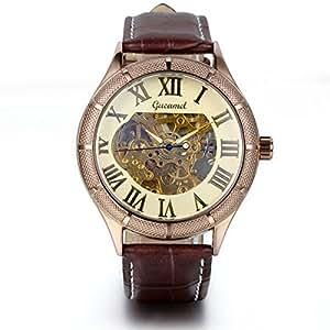 JewelryWe Classic Skeleton Mechanical Movement Wristwatch ...