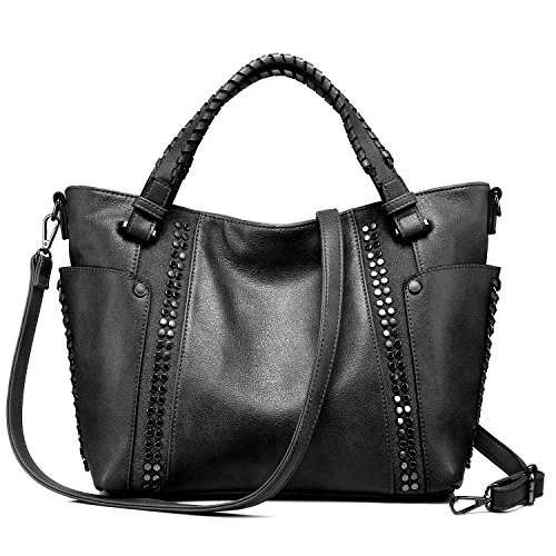a5839b4ec56df Handtaschen Damen Leder Henkeltasche Taschen Groß Tote Tasche Designer  Taschen Grau Schwarz