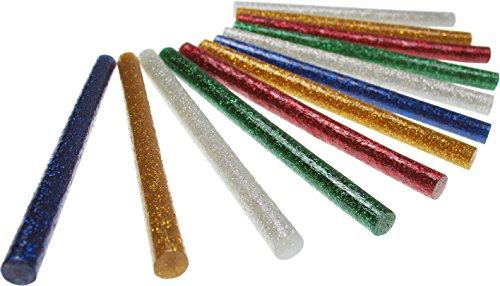 Heißklebepatronen / Heißklebesticks klein 12 Stück Glitter, Glitter