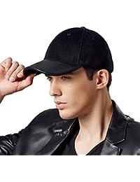 Kenmont hommes automne hiver laine sport masculin cuir véritable visière chapeau casquette de baseball