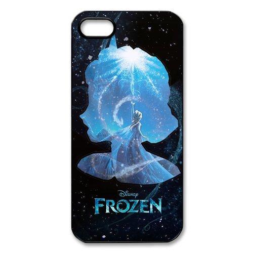 Disney Frozen, Elsa, Anna, Olaf Design Durable TPU Coque de protection pour Apple iPhone 55S, iPhone 5S, iPhone 5/5S Coque Cover Case (Blanc/Noir)