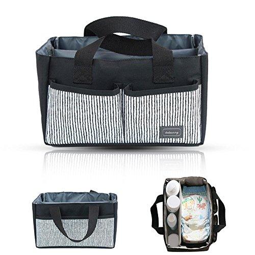 KOBWA Baby Diaper Caddy Organizer, Portable Windel Caddy Tasche für Alle Windel Größen, Baby Shower Geschenke Korb für Jungen Mädchen, Lagerplatz Kinderzimmer Korb Wechselhafte Fächer