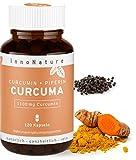 Hochdosierte Curcuma/Kurkuma + Piperin Kapseln mit 1100mg reinem Curcuminoide Gehalt. 120 Kapseln im Monatsvorrat. Laborgeprüft, hohe Bioverfügbarkeit, vegan + hergestellt in DE. …