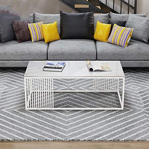 Beistelltische, Rechteckiger Tee-Couchtisch der Schmiedeeisen-Marmorplatte, Wartebereich-Sofa Table Living Room Furniture Dining Table (Color : C) -