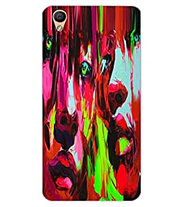 ColourCraft Beautiful Painting Design Back Case Cover for OPPO F1 PLUS