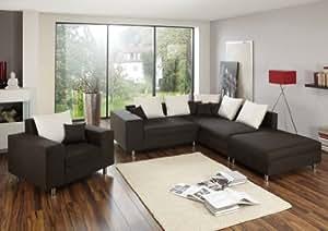 ecksofa happy mit hocker und sessel made in germany freie farbwahl ohne aufpreis aus unserem. Black Bedroom Furniture Sets. Home Design Ideas