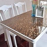 Eeayyygch PVC-Weichglas-Tischdecke, Tischdecke, Tischdecke, Öldicht, für den Haushalt, Kristall-Teller, wasserfest, Einweg-Couchtisch, Esstisch, B 90 x 150 cm (Farbe: D, Größe: 90 x 100 cm)
