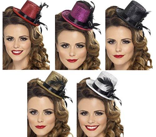 Smiffys Kostüm Zubehör Mini Zylinder Burlesque Hut Karneval Fasching - Mini Zylinder Kostüm