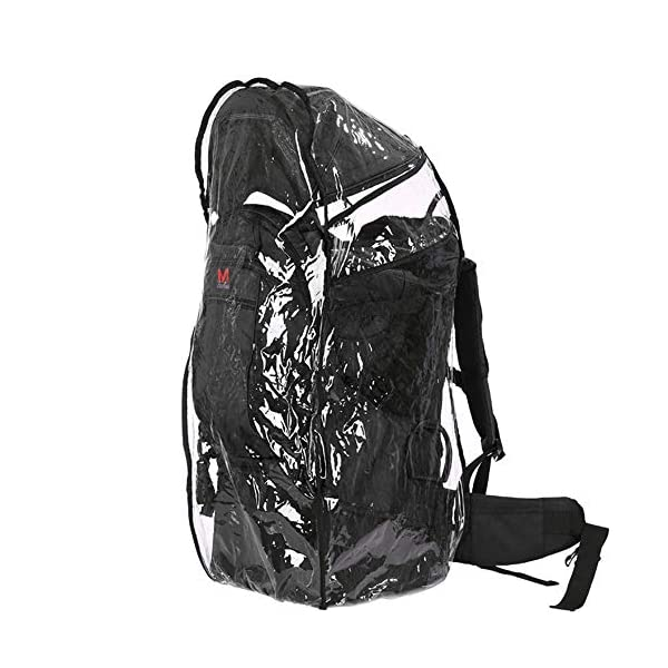 Lixada Baby Backpack Hiking Toddler Child Holder Backpack with Sunshade Visor  Bearing capacity up to 55lb. Padded sitting compartment with safety belt and back cushion. Comfortable for baby to put feet on with kickstand. 3