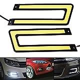 Swiftswan Auto LED ultradünne U-Form Super Bright Cob Universal-Tagfahrlicht (Farbe: weißes Licht)
