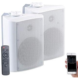 auvisio Outdoor Lautsprecher: Aktiv-Multiroom-Stereo-Außen-Lautsprecher, WLAN, Bluetooth, 120W, IP55 (Outdoor Lautsprecher mit Bluetooth)