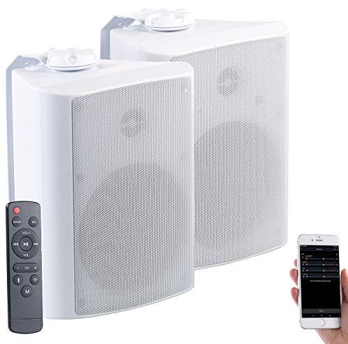 auvisio Outdoor Lautsprecher: Aktiv-Multiroom-Stereo-Außen-Lautsprecher, WLAN, Bluetooth, 120W, IP55 (WLAN Lautsprecher Outdoor)