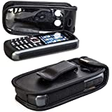 caseroxx Poche pour téléphone cellulaire Samsung B2710 noir en cuir véritable avec un clip de ceinture