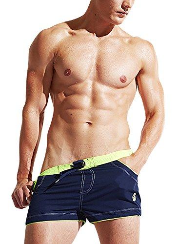 Dolamen Bañador de Natación Boxer para Hombre, Hombre Bañador Traje de Baño Pantalones Cortos Playa...