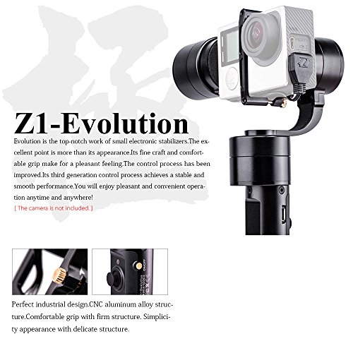 Get Zhiyun New Version Z1- Evolution 3-Axis Handheld Stabilizer Brushless Gimbal for GoPro Hero 4 3+ 3 2 SJ4000 SJ5000 Sport Cameras Discount