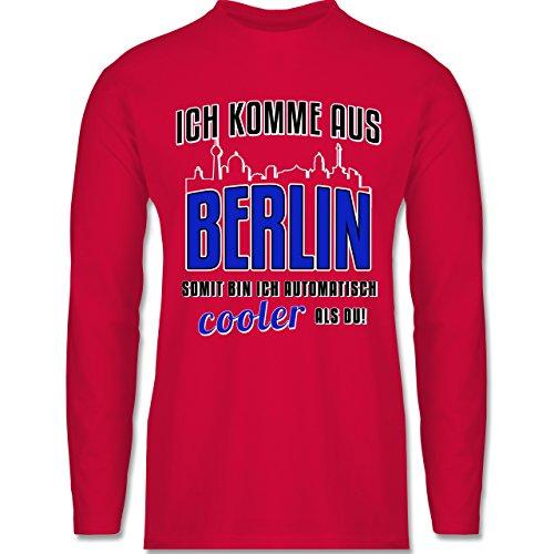 Shirtracer Städte - Ich Komme Aus Berlin - Herren Langarmshirt Rot