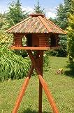 Luxus Vogelhaus Vogelhäuschen super Blickfang mit und ohne Ständer (grün, mit Ständer)