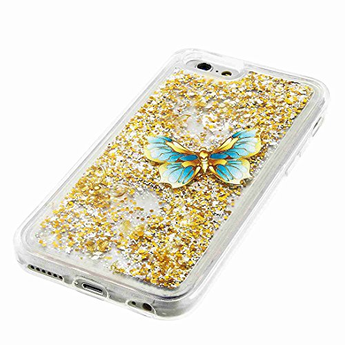 Pheant® Apple iPhone 6/6S (4.7 Zoll) Coque Gel Étui Brillante Housse Cas Transparent Etui de Protection en TPU Silicone Liquide Bling Gratuit Paillettes Sables Mouvants Couleur-04