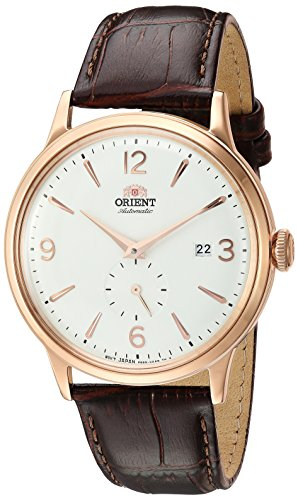 Orient Men's 'Bambino Small Seconds' Japanese Automatic Stainless Steel and Leather Dress Watch, Color:Brown (Model: RA-AP0001S10A)