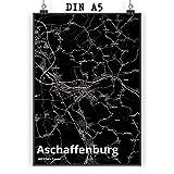 Mr. & Mrs. Panda Poster DIN A5 Stadt Aschaffenburg Stadt
