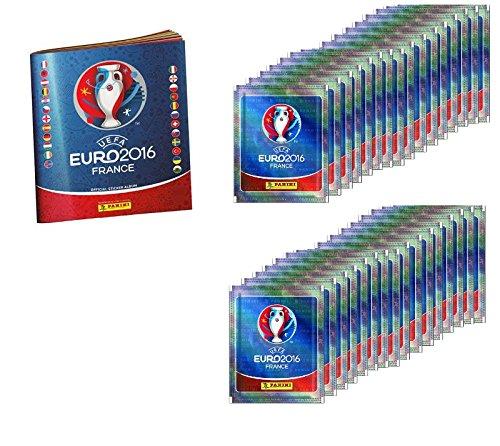 Panini UEFA EM Frankreich 2016 Sammelalbum + 32 Sticker Tütchen