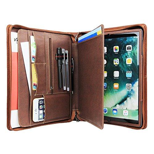 Coface Professionelle Business Padfolio Organizer Echte Schafe Leder Kompakte Portfolio Tasche für iPad Pro 9,7 / ipad Air 2 / ipad Air (Organizer Laptop Briefcase)