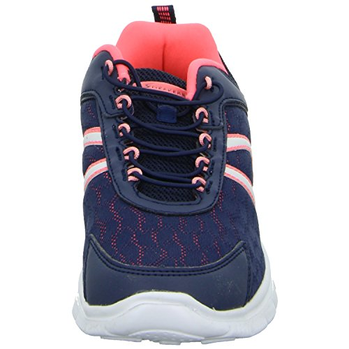Sneakers 214506 Damen Slipper Halbschuh sportlicher Boden Blau (Blau)
