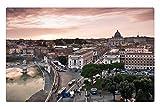 iRocket interior Suelo Alfombra/Alfombrilla–calle en Roma Leading to El Vaticano (23.6'x 15.7', 60cm x 40cm)