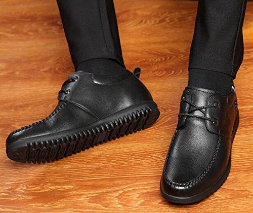 All'interno Dell'incremento Le Scarpe Da Uomo Stealth 6cm Affari Tempo Libero Uomini Scarpe Singole Scarpe In Pizzo Black