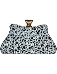 Latest Stylish Fancy Women Silver Clutch Black Clutch/sling Bag Party Wear Women Ladies Purse,party Clutches For... - B07DBB3K53