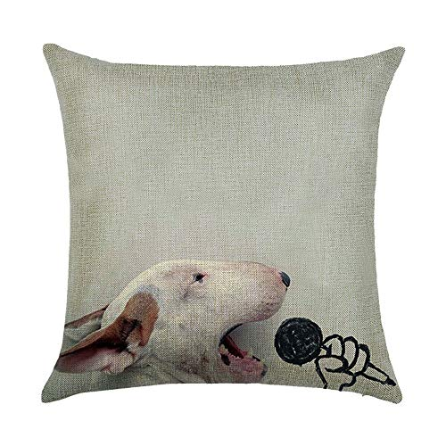 Cushion Covers Cute Dog American Pit Bull Terrier Painting Polyester Plush Fabrics Double-Sided 18x18 IN/45x45cm Throw Pillow Cases for Home Sofa Bed Car Office Decorative -