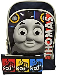 """Thomas & Friends 12"""" Toddler Pre-School Kid Backpack With Pencil Case Bag Rucksack"""
