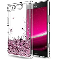 """Funda Sony Xperia XZ1 Carcasa, Mosoris 3D Bling Glitter Líquido Brillar Silicona TPU Cubierta Anti Arañazos Tapa Choque Absorción Cubierta Caja Cristal Sparkle Protección Caso Flexible Bumper Case para Sony Xperia XZ1 5.2"""""""