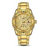 Reloj analógico de cuarzo de acero inoxidable para hombre con fecha militar, reloj deportivo impermeable para hombre + caja de Gorben