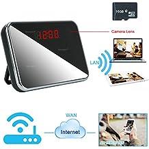 TEKMAGIC 16GB Mini Camara Eespía Red de WIFI Reloj Detección de Movimiento DV Videocamara 1920x1080P HD Vídeo de Vigilancia Grabador soporte de Grabación de Bulce 24/7 Horas Funcionando