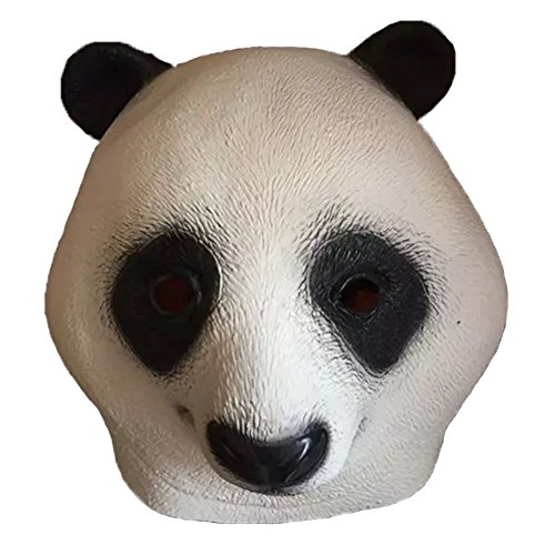 Maskerade Masken Halloween Party Latex Jaffaite Plastik Lustige Karneval Masken Scary Haunted Haus Best Gesichtsmaske Kopfbedeckung Dekorationen Moive Film Kung Fu Panda Tier Panda (Kung Fu Panda Outfit)