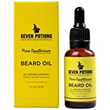 Beard Oil 30ml by Seven Potions. Scentless Beard Softener and Leave in Conditioner