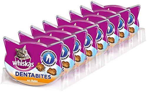 Whiskas - Dentabites Premios para Gatos de Higiene Oral - Paquete de 8 x 40 gr - Total: 320 gr