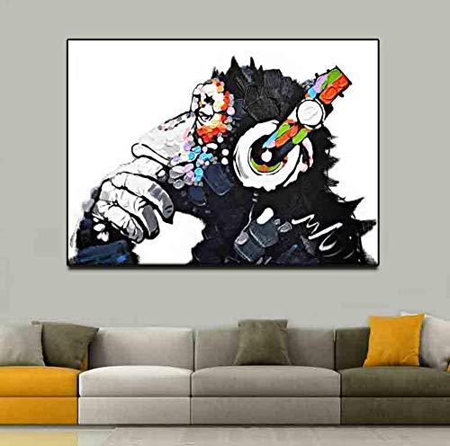 Olydmsky Toile Murale Deco,Singe Simple Peinture Abstraite Singe sans Cadre décoratif Salon étudier de pulvérisation de Peinture Art Core