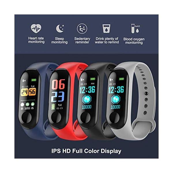 GULEHAY M3 Smart Fitness Tracker, Reloj de Actividad Impermeable con presión Arterial, Monitor de frecuencia cardíaca… 9