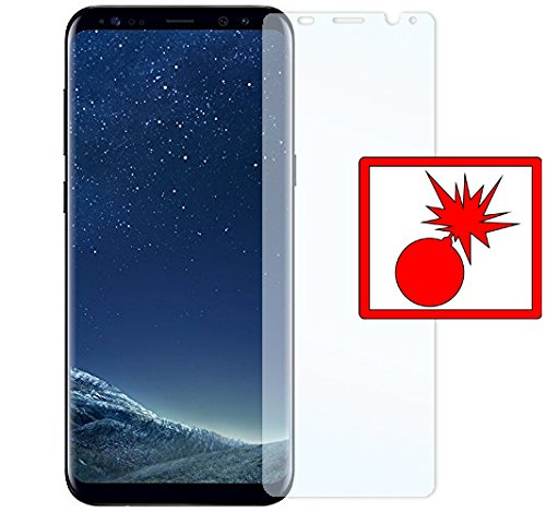 Slabo 2 x Panzerschutzfolie Samsung Galaxy S8+ Panzerfolie Displayschutzfolie Schutzfolie Folie (verkleinerte Folien, aufgrund der Wölbung des Displays) S8 Plus Shockproof KLAR - Made IN Germany