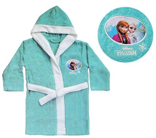 Unbekannt Frottee Bademantel Disney die Eiskönigin - 2 bis 4 Jahre / Gr. 92 - 110 - 100 % Baumwolle - für Kinder / Mädchen - Prinzessin Princess - völlig unverfroren EL..