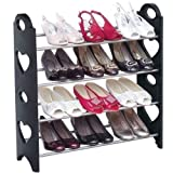 #6: WebelKart Economical (DIY) 12 Pair/4 Tier Shoe Rack Stand for Home/Office Use