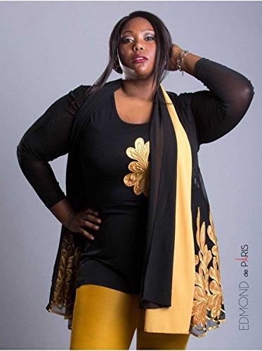Vêtement Femme Grande Taille Tunique Edmond Boublil moutarde Jaune
