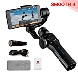 Zhiyun Smooth-4 3-Axis Handheld Gimbal Stabilizer for iPhone X 8 7 Plus 6 Plus Focus Pull & Zoom Capability,Phonego Mode For Instant Scene Transition (Black) (Not Support Android Temporarily)
