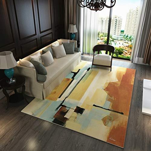 RUG LUYIASI- Moderne Bunte Abstrakte Zeichnung Malerei Parlor Wohnzimmer Dekorative Teppichboden Fußmatte Pad Badezimmer Küche Bereich Wolldecke Non-Slip mat (Farbe : A, größe : 120cmx160cm) - Dekorative Zeichnung Pad