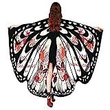 VEMOW 2018 Neue Mode Frauen Weihnachten Karneval 168 * 136CM Flügel Kostüm Schmetterling Flügel Schal Schals Poncho Kostüm Zubehör (Weiß, 168X136CM)