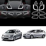 #2: Automaze Interior Decoration Chrome Kit For Verna Fluidic 2011-2016 Models, 8 Pc Set, Verna Car Accessories