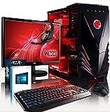 VIBOX Lynx Paquet 51 Gaming PC - 4,2GHz Intel i7 Quad Core CPU, GTX 1060 GPU, Extremo, Ordenador de sobremesa para oficina Gaming vale de juego, con monitor, Windows 10, Iluminaciàn interna rojo (3,6GHz (4,2GHz Turbo) Super rápido Intel i7 7700 Quad 4-Core CPU procesador de Kabylake, Nvidia GeForce GTX 1060 3GB Tarjeta gráfica, 16 GB 2133MHz DDR4 RAM, Unidad de estado sàlido SSD de 240GB, Disco duro 3TB, Refrigerador de la CPU Raijintek, 85+ PSU 600W, Caja de Vibox rojo)