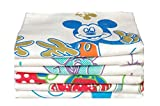 Tks Cotton Bath Towels (6 Pieces) - Whit...